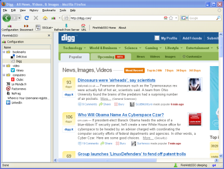 FireWebSSO sidebar SSO Extension Firefox